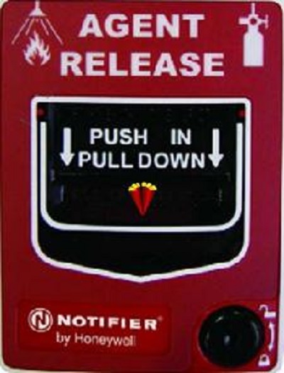 Nút nhấn kích hoạt và tạm dừng xả khí NBG-12LRA - Notifier